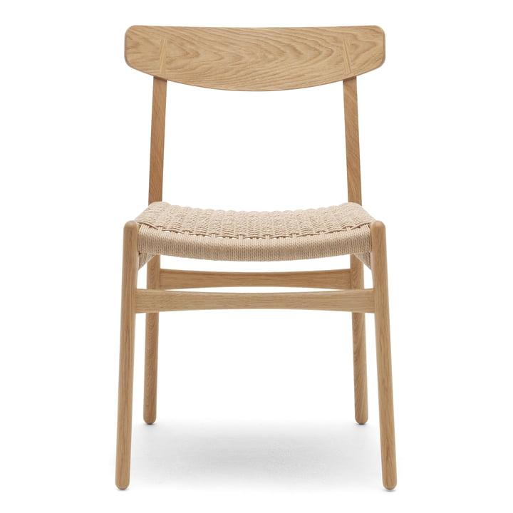 Carl Hansen – CH23 stol, olieret eg/vævet papirgarn