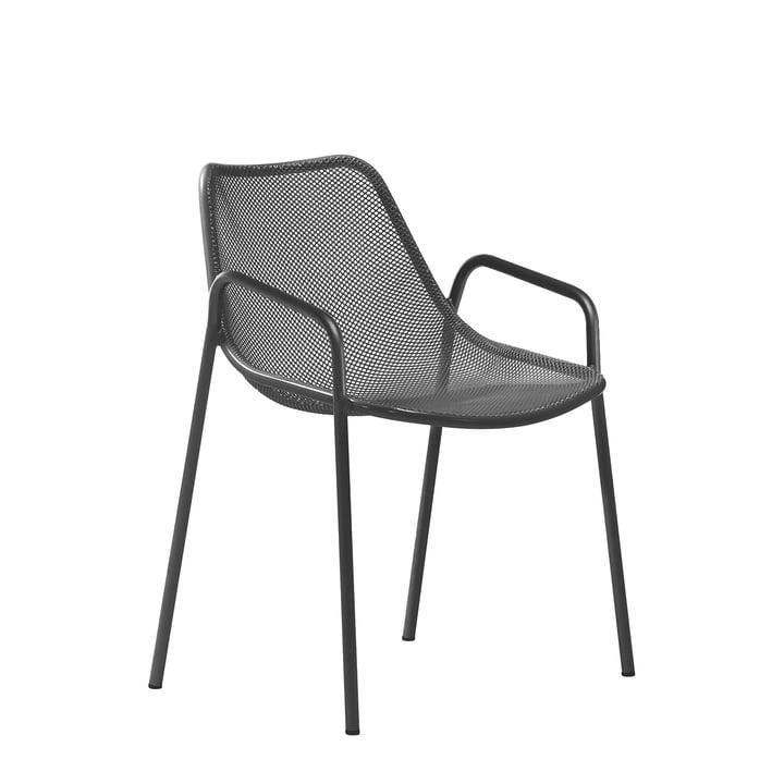 Emu – Round armstol, antikt jern