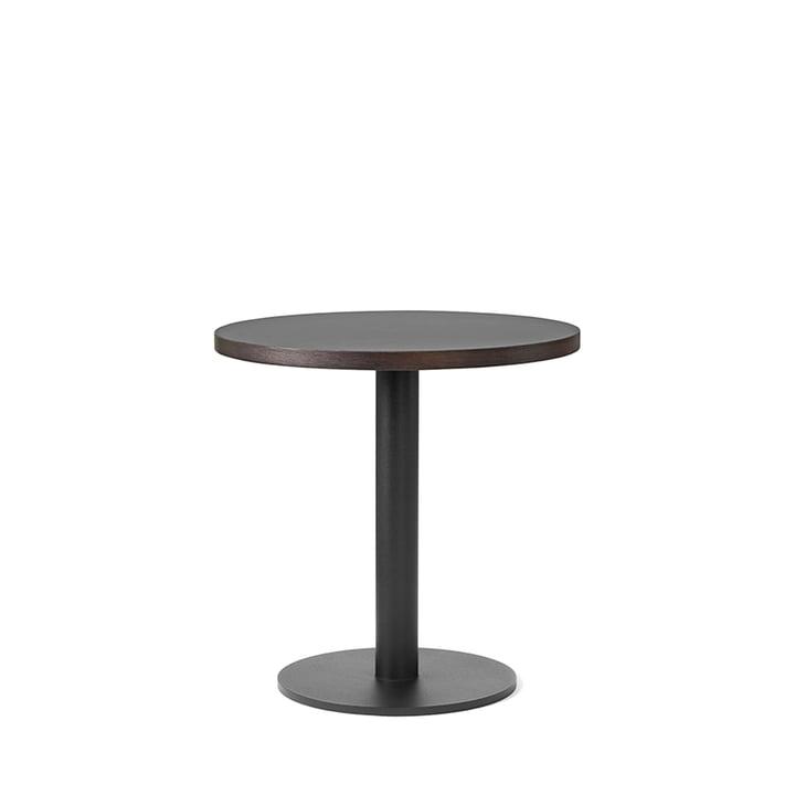 Nærvær sidebord Ø 42 x H 42 cm fra &Tradition i sort/røget og olieret eg