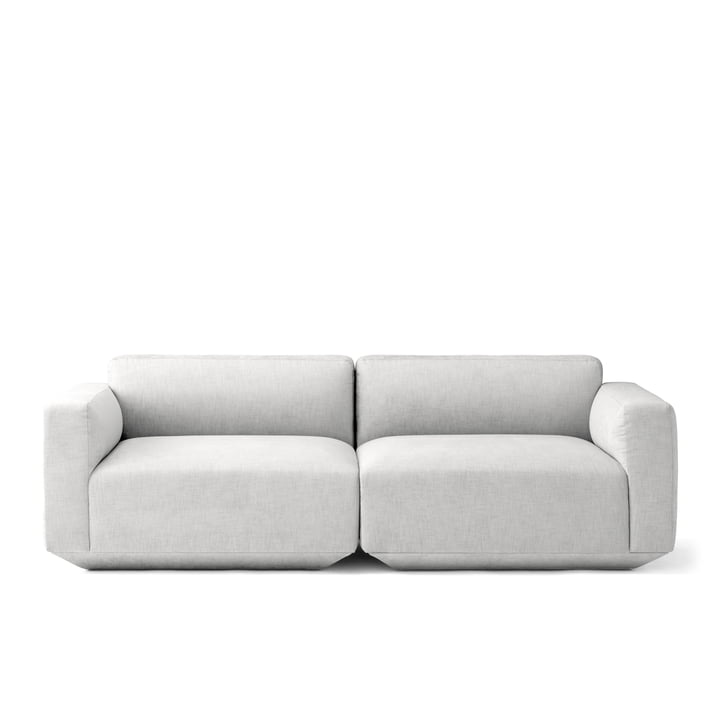 Develius 2-personers sofa, konfiguration F fra &Tradition i Kvadrat Maple 112