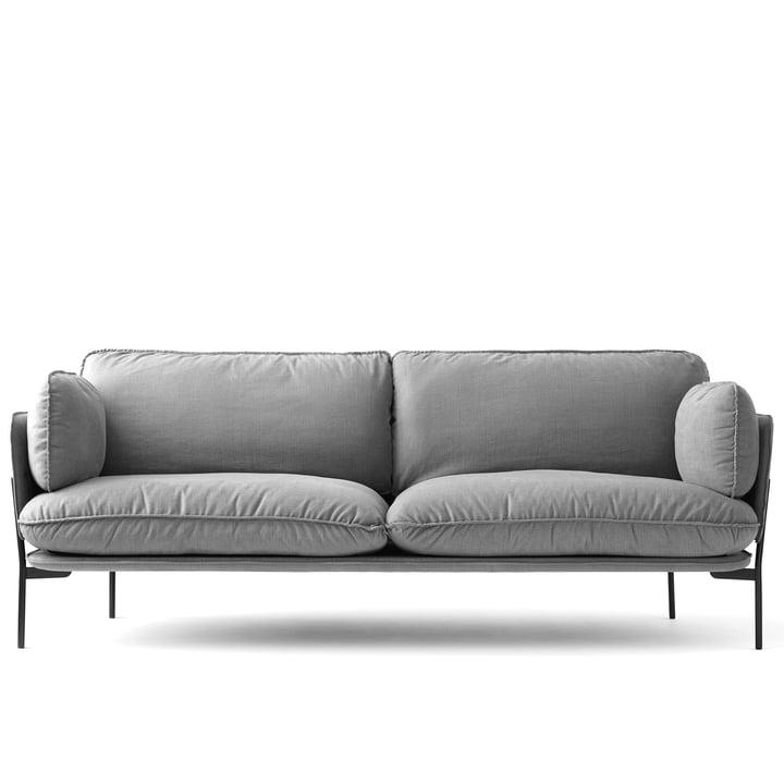 Cloud sofa LN 3. 2 af & Tradition med base i Warm Black / Hot Madison 724