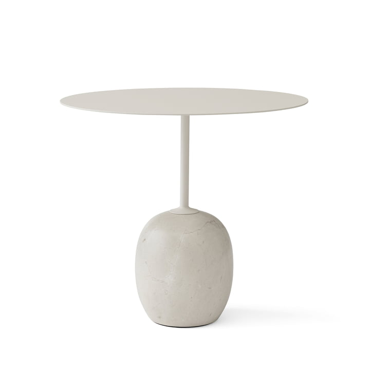 Lato sidebord i elfenben/Crema Diva marmor