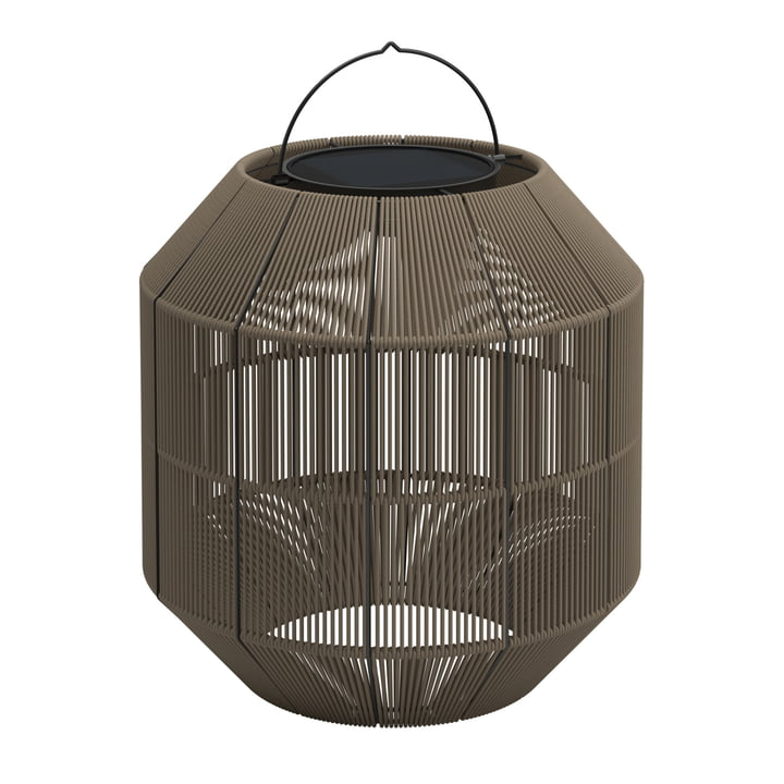 Gloster – Ambient Nest solcellelampe, lysebrun