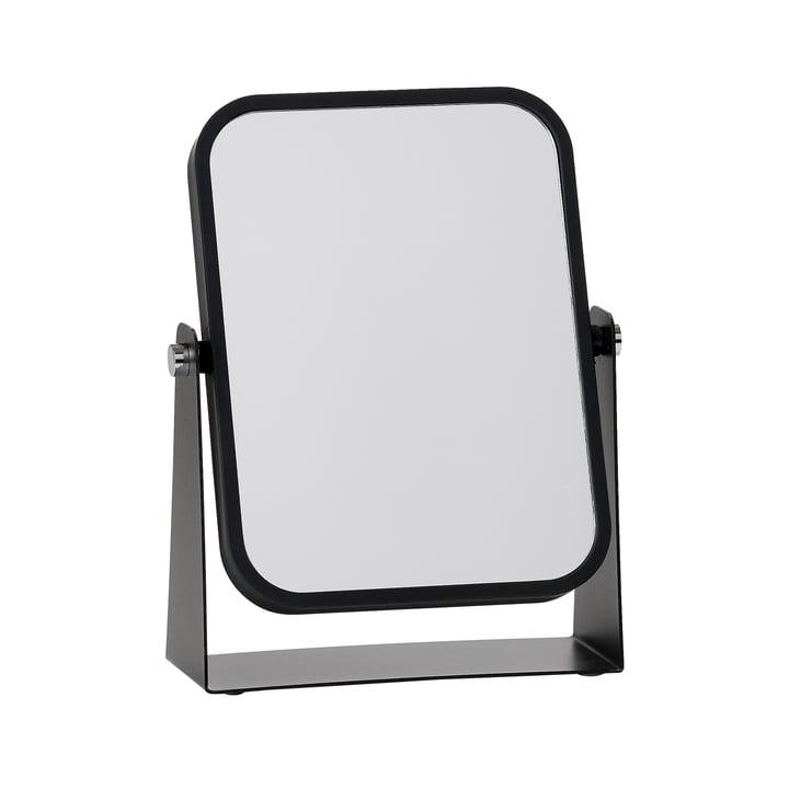 Bordspejl fra Zone Denmark med 2 spejlsider og forstørrelseseffekt, sort