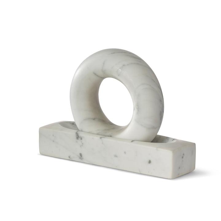 Tondo Mortar & Pestle fra Design House Stockholm i hvid marmor