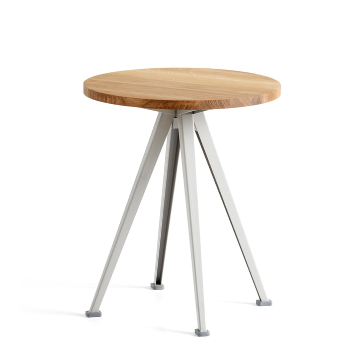 Hay - Pyramid Coffee Table 51, Ø 45,5 cm, eg mat lakeret / beige