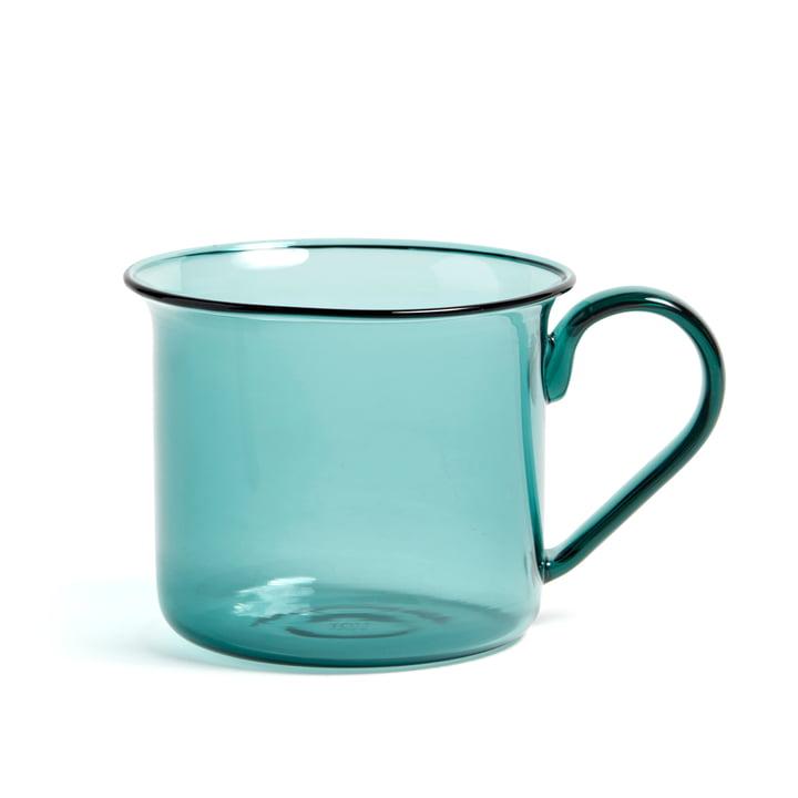 Krus i borosilikatglas, Ø 8 x H 6,5 cm fra Hay i havblå