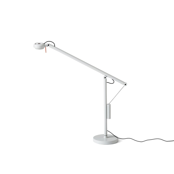 Fifty-Fifty Mini LED-bordlampe fra Hay i lysegrå (RAL 7035)