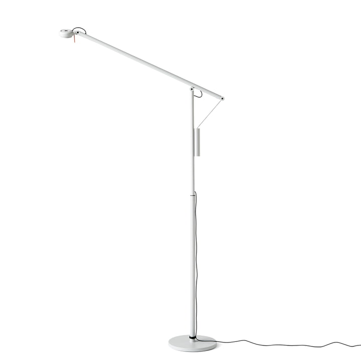 Hay – Fifty-Fifty Mini LED-gulvlampe, lysegrå (RAL 7035)