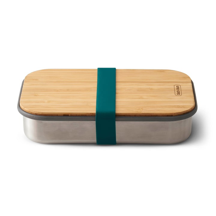 Havblå Sandwich Box i rustfrit stål fra Black + Blum