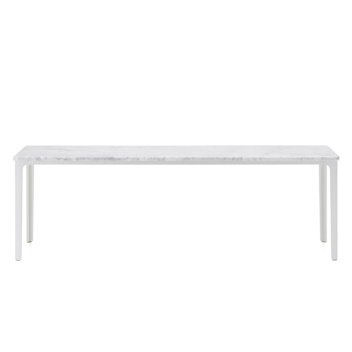 Vitra - Pladebord, 113 x 41 cm i hvid pulverlakeret / Carrara marmor