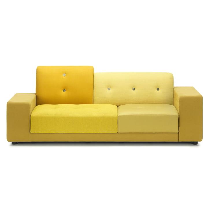 Vitra - Polder kompakt sofa i gylden gul