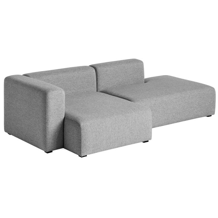 Hay – Mags sofa 2,5 personers, kombination 3, armlæn venstre / grå (Hallingdal 116)