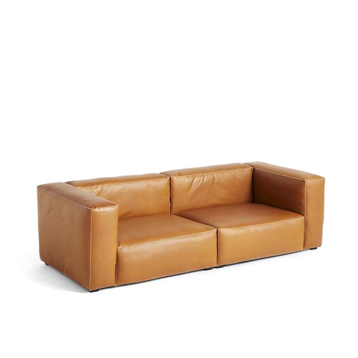 Hay - Mags Soft Sofa 2,5-sæders, kombination 1, læder Cognac (Sil0250)