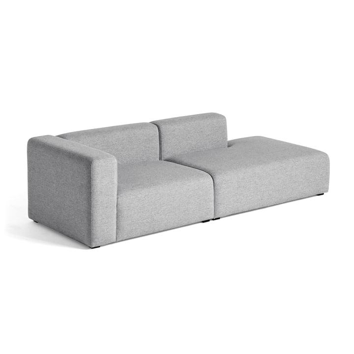 Hay – Mags sofa 2,5 personers, kombination 3, armlæn venstre / lysegrå (Hallingdal 130)