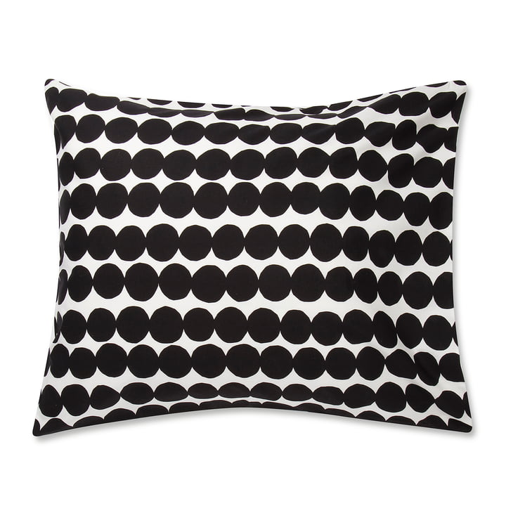 Marimekko - Räsymatto pudebetræk 80 x 80 cm i sort / hvid
