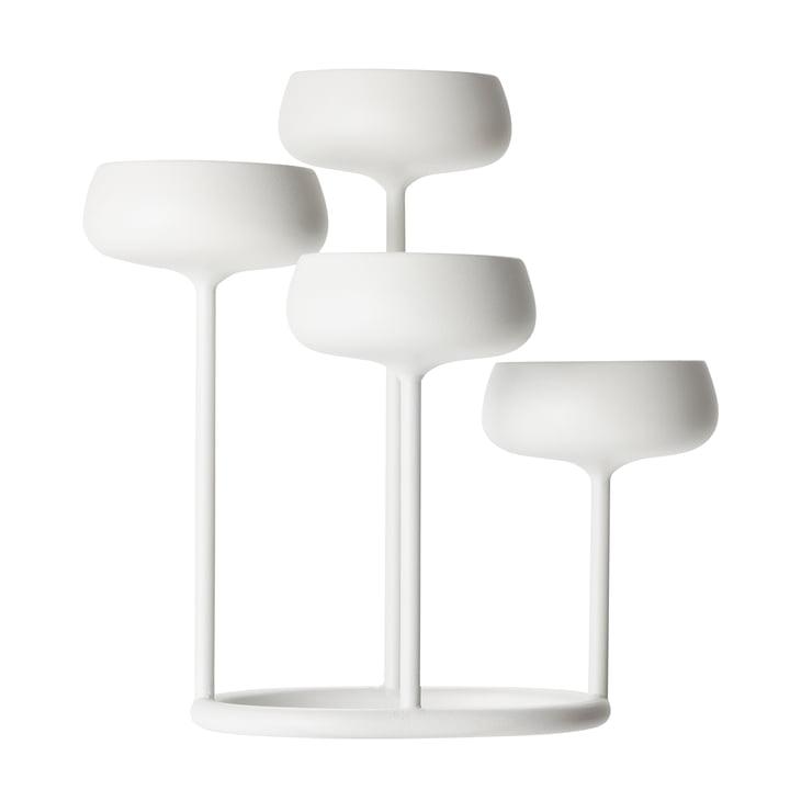 Iittala – Nappula 4 armet lysestage, hvid