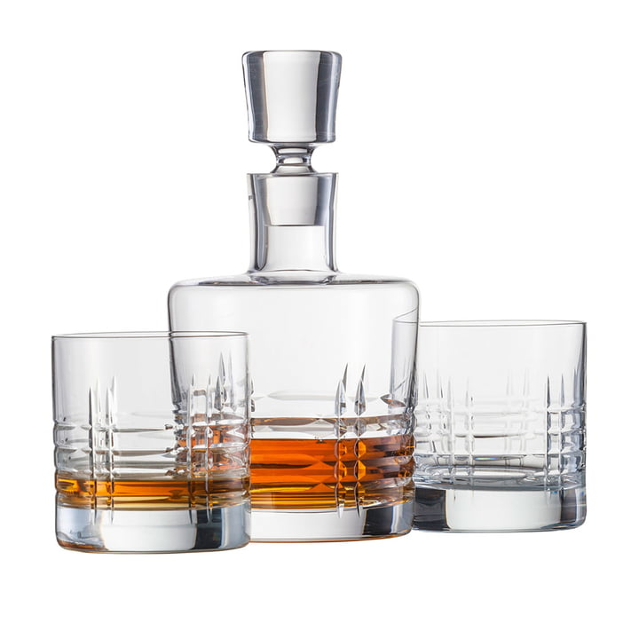 Schott Zwiesel - Basic Bar klassisk whisky karaffel sæt (2 glas + 1 glasprop)