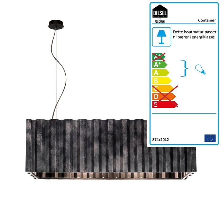 Container vedhæng lys af Diesel Bo i sort