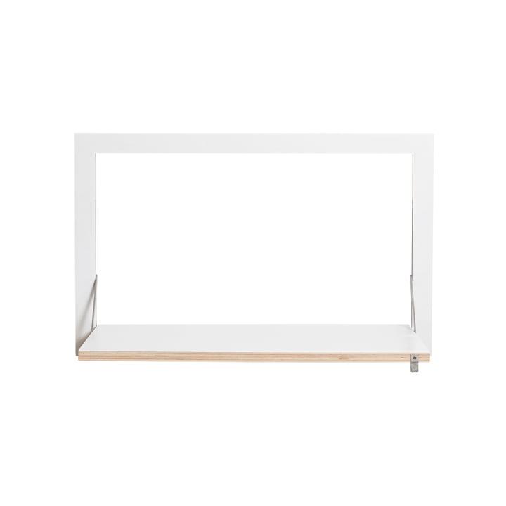 Fläpps sekretær / i 80 x 50 cm af Ambivalenz i hvid