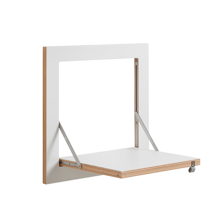 Ambivalenz - Fläpps hældende hylde, 40 x 40 cm, 1 hylde, hvid