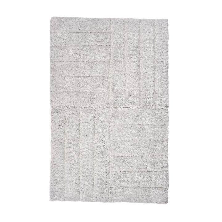 Zonen Danmark - Klassisk badeværelsesmåtte 80 x 50 cm, blød grå