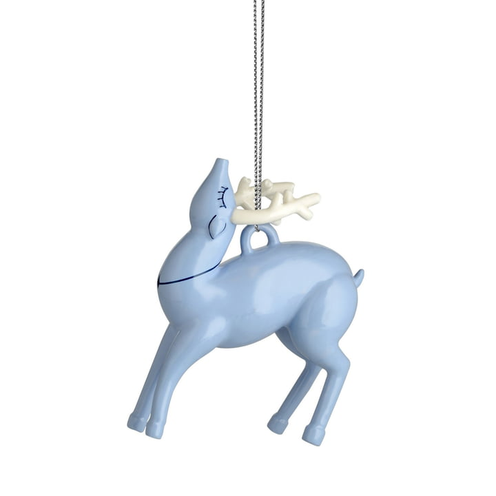 Alessi - Blue Christmas juletræspynt, rensdyr