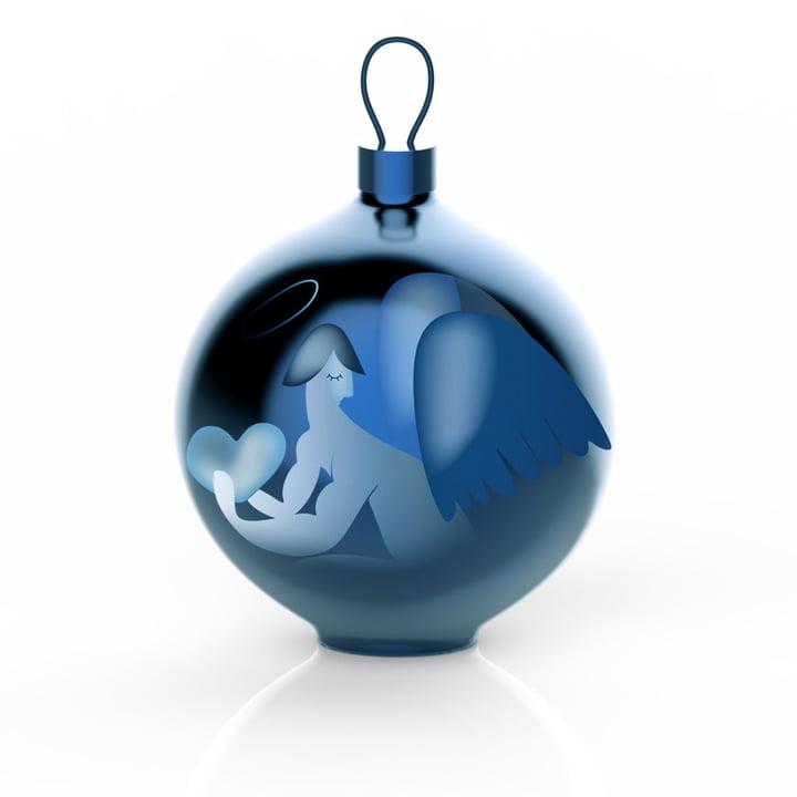 Alessi - Blue Christmas juletræskugle, engel