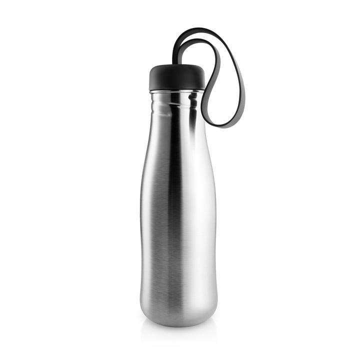 Aktiv drikkeflaske 0,7 l fra Eva Solo i rustfrit stål / sort