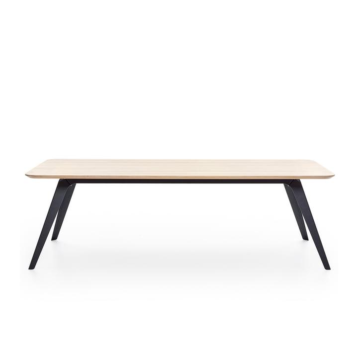 Fold spisebord 200 × 95 cm, eg / sort af Puik