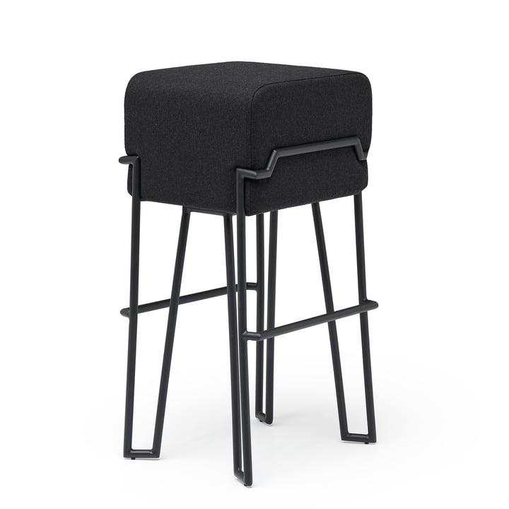 Bokk barstol H 76 cm, sort / sort af Puik