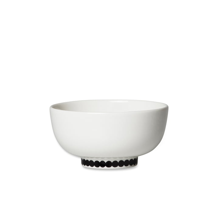 Oiva Räsymatto skål, 300 ml i hvid / sort af Marimekko
