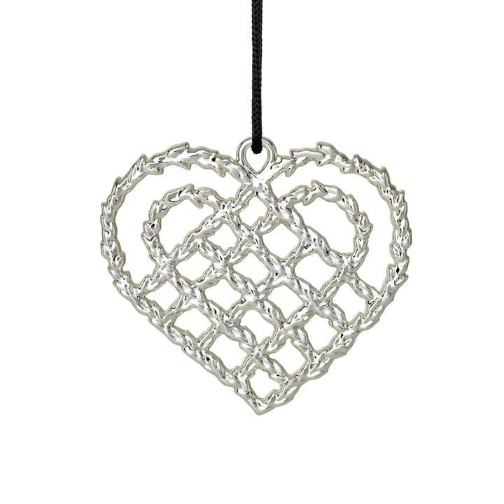 Rosendahl - vævet hjerte H 7 cm, sølv fra Rosendahl