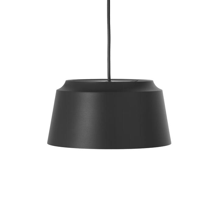 Groove pendellampe fra Puik, Ø 26 x H 13 cm i sort