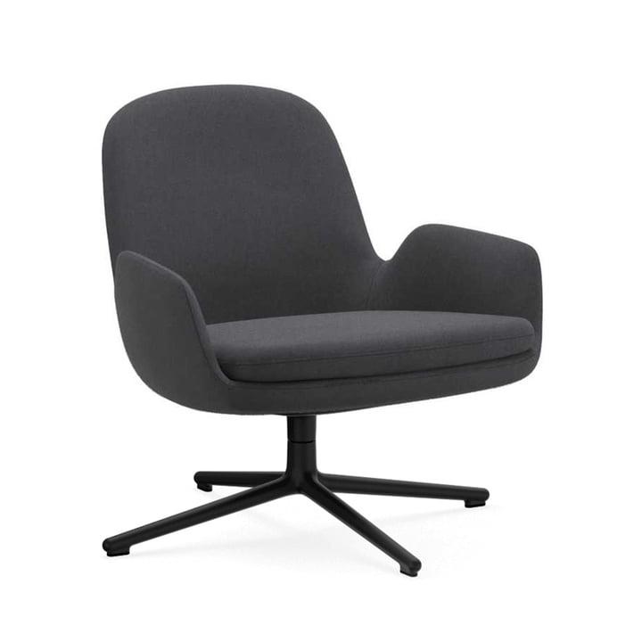 Normann Copenhagen - æra Lounge stolen low Swivel, aluminium sort / grå (Fame 60003)