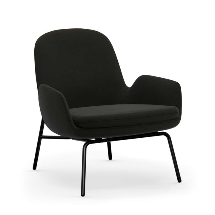 Normann Copenhagen - Era Lounge Chair i aluminium sort / grå (Fame 61134)