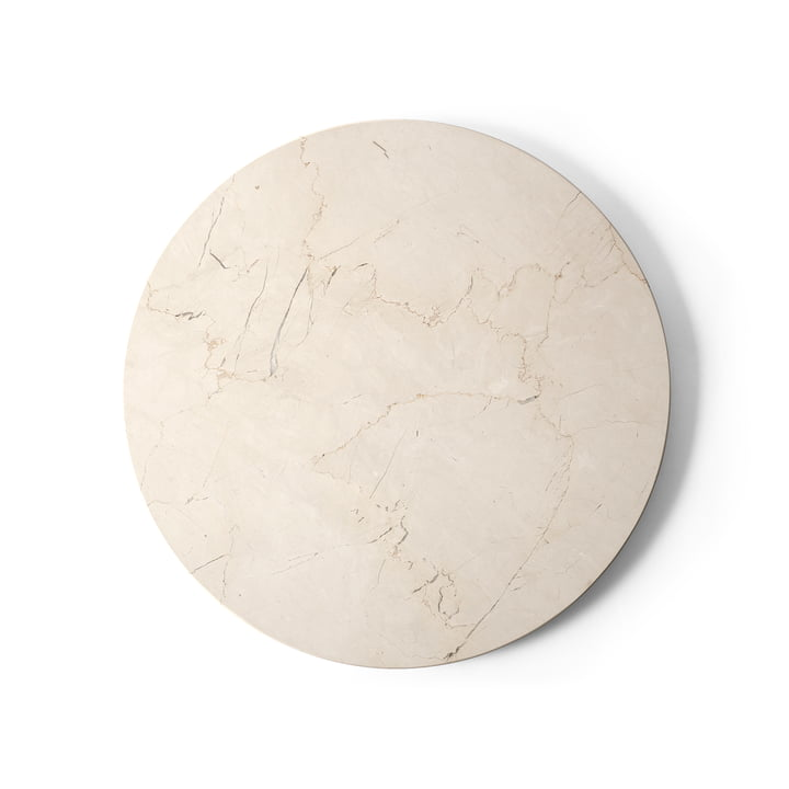 Bordplade til Androgynous sidebord Ø 42 cm fra Menu i elfenbenmarmor