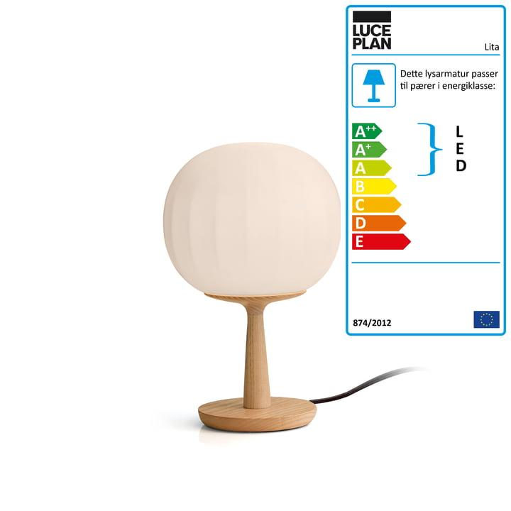 Luceplan - Lita bordlampe, Ø 18 x H 28 cm, ask