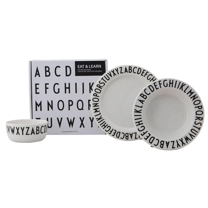 Melamin porcelæn sæt Classic fra Design Letters i hvidt