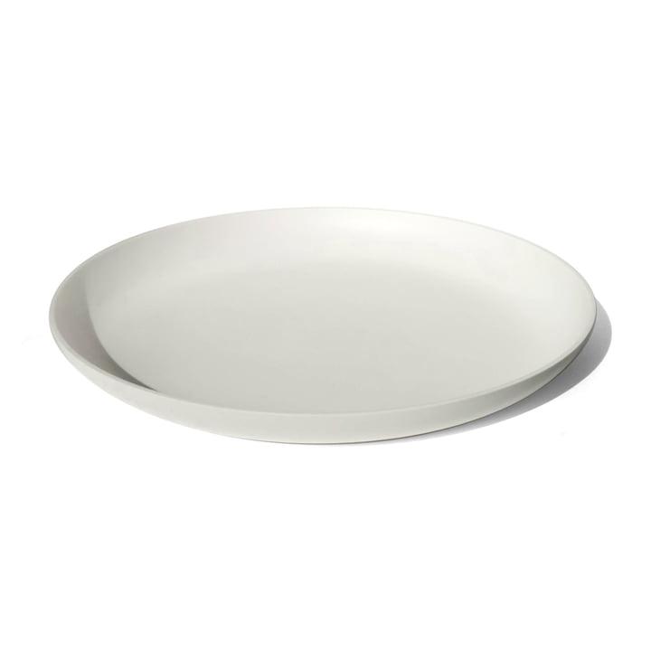 hvid bakke lavet af høj kvalitet Corian med 40 cm diameter