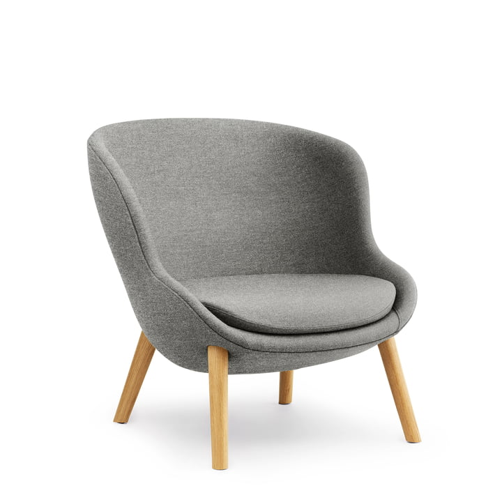 Hyg Lounge Chair Low af Normann Copenhagen - eg / grå (Flax MLF26)