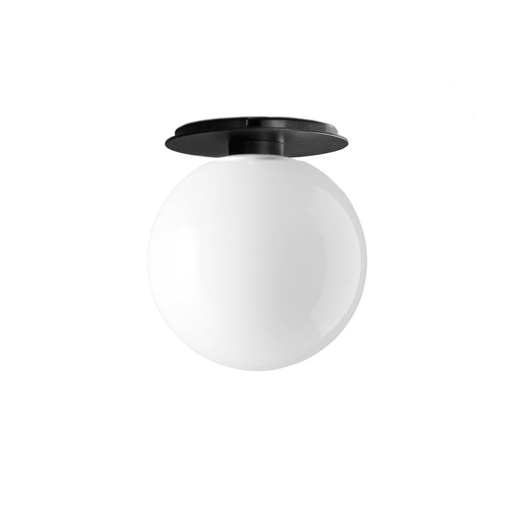 TR væg- og loftslampe fra Menu i sort / lysende skinnende opal