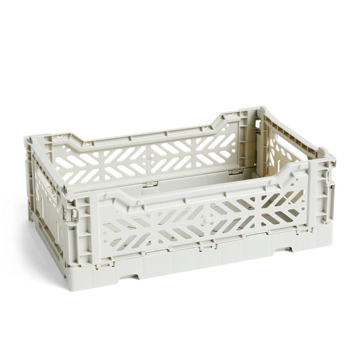 Colour Crate Basket S, 26,5 x 17 cm fra Hay i lysegrå