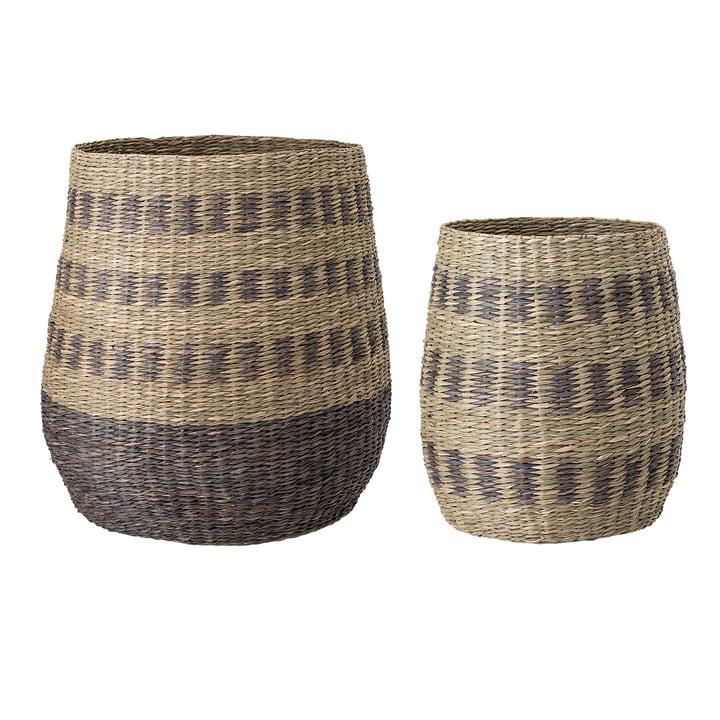 Multicolour Seagrass Basket af Bloomingville - Set of 2