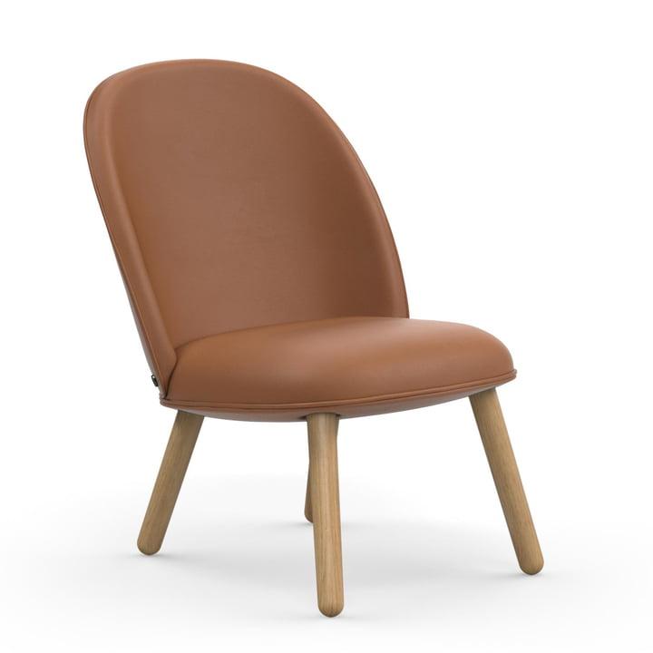 Ace Lounge Chair fra Normann Copenhagen i eg / brandy (Ultra Leather 41574)