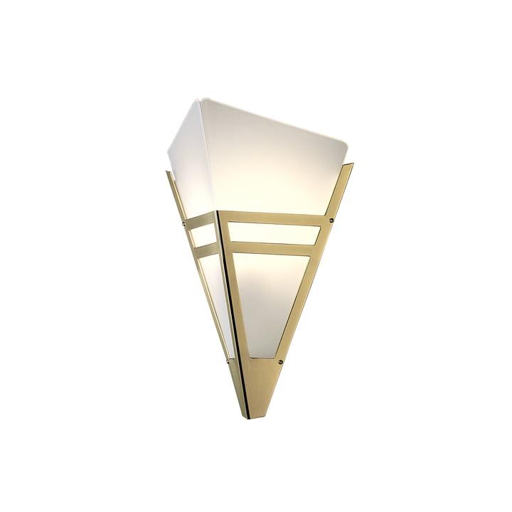 Art Deco væglampe WAD36 fra Tecnolumen i messing