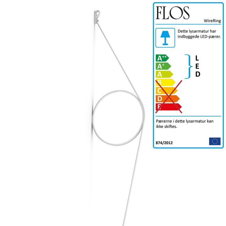 WireRing væglampe fra Flos i hvid