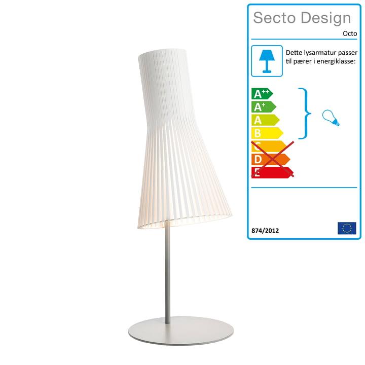 Secto 4220 bordlampe fra Secto i hvid