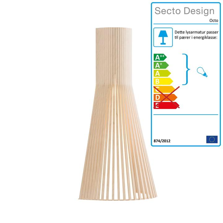 Secto Lille 4231 væglampe af Secto i bjørk