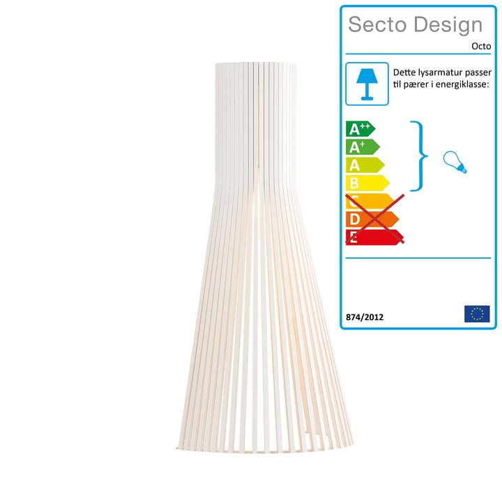 Secto Lille 4231 væglampe af Secto i hvidt